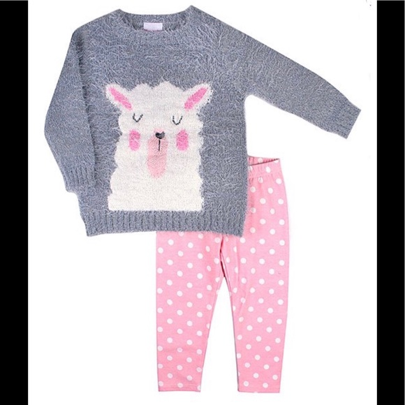 Nannette Other - Nannette Llama Embroidered Sweater & Leggings Set